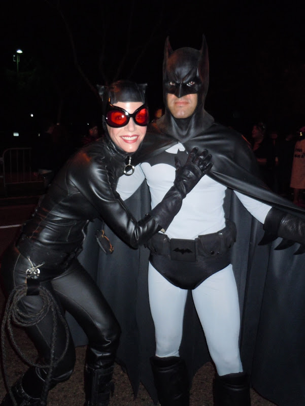 West Hollywood Halloween Catwoman and Batman