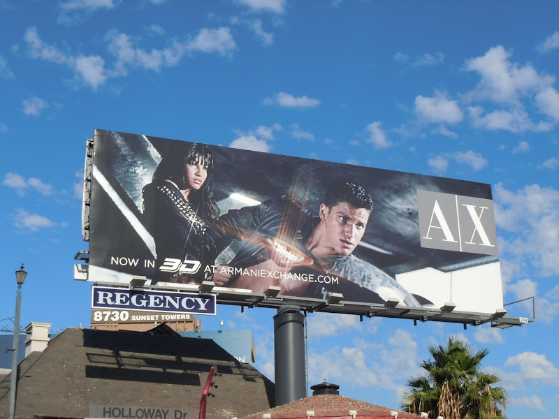 Armani Exchange speed style billboard
