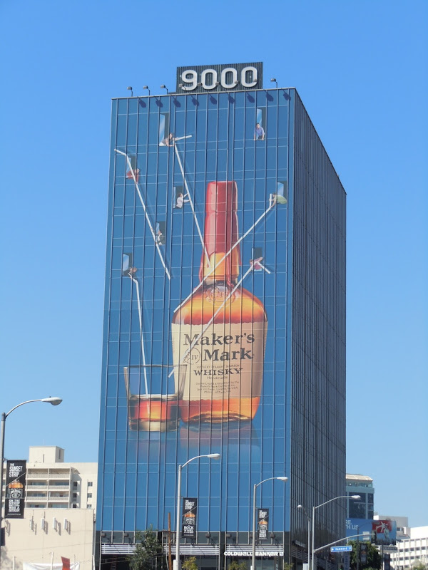 Maker's Mark straws billboard