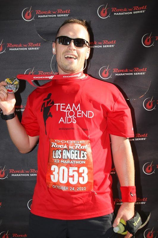 Jason runs Rock 'n' Roll LA Half Marathon