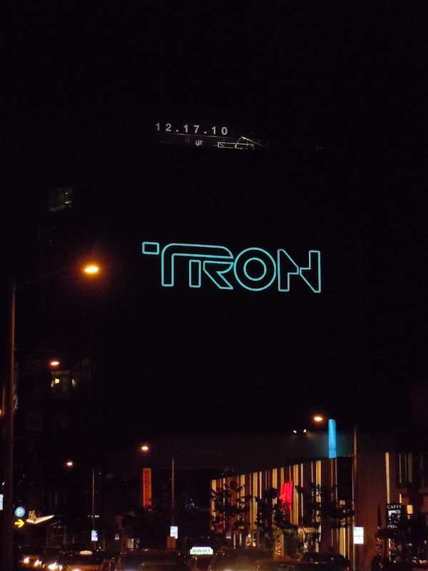 Tron Legacy illuminated teaser billboard