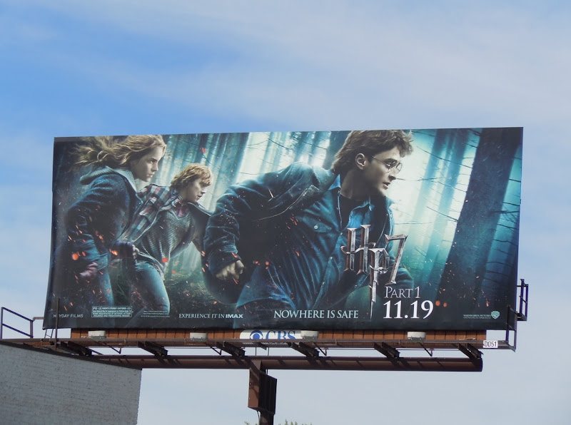 Harry Potter 7 Nowhere Is Safe billboard