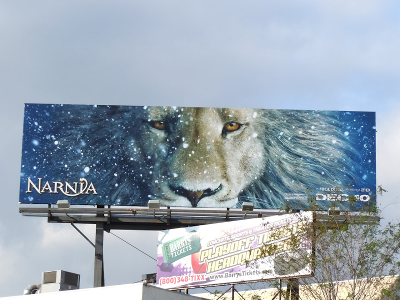 Narnia Dawn Treader teaser movie billboard