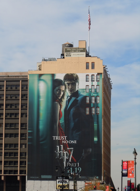Harry Potter 7 Trust No One NYC billboard