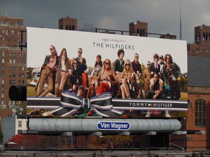 The Hilfigers Holidays 2010 NYC billboard