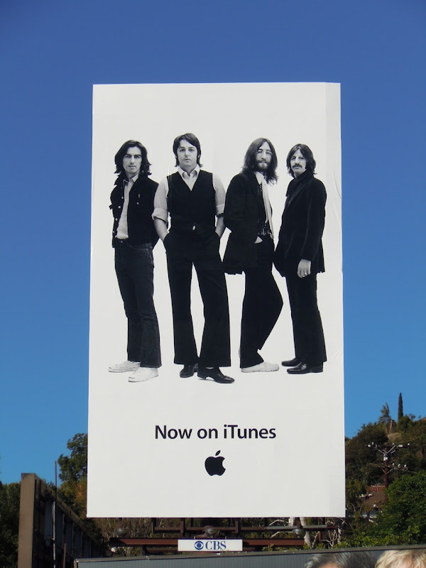 The Beatles iTunes billboard Sunset Strip
