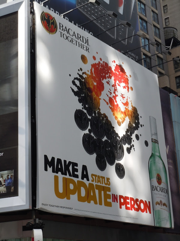 Bacardi Status Update billboard NYC