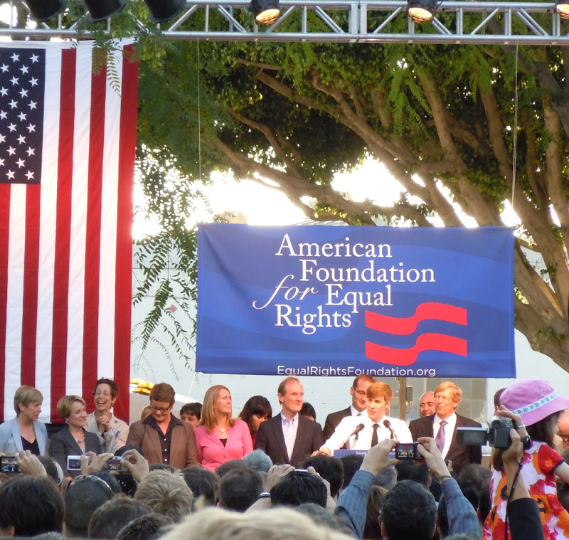 Prop 8 overturned rally WEHO