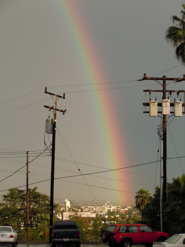 Rainbow over Los Angeles Dec 2010