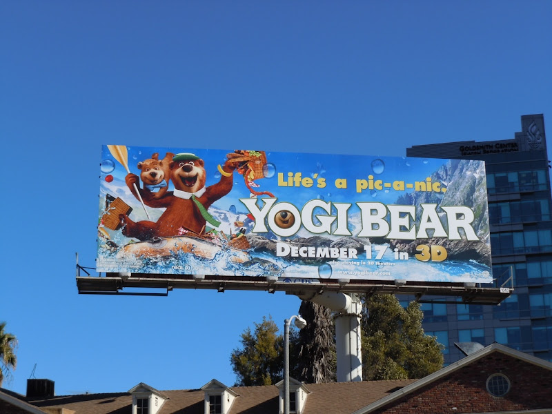 Yogi Bear river rafting billboard