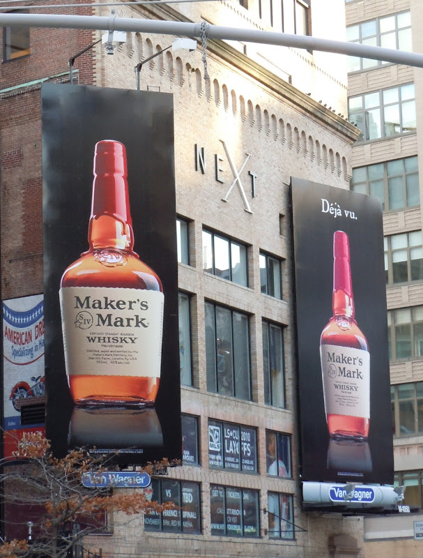 Maker's Mark Deja Vu billboards