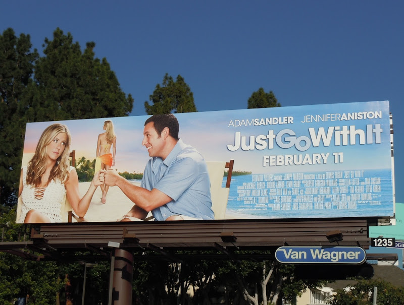 Just Go With It movie billboard
