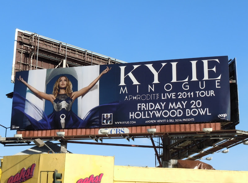 Kylie Minogue Hollywood Bowl billboard