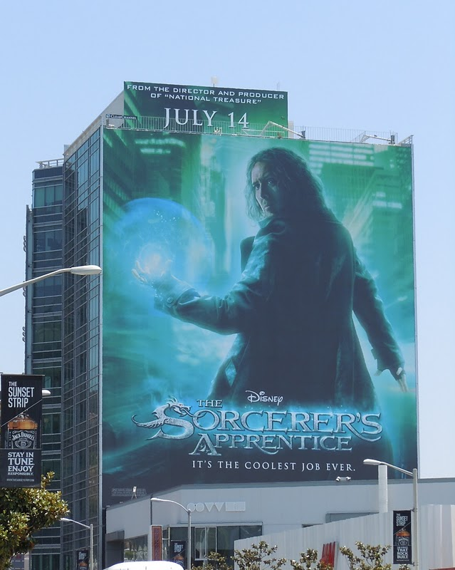 Nic Cage The Sorcerer's Apprentice billboard