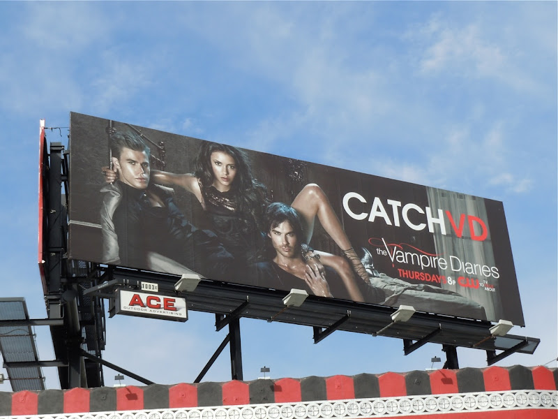 Vampire Diaries Catch VD TV billboard