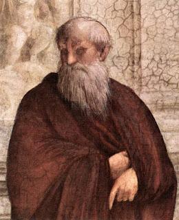 """je viendrai de temps à autre revisiter la fresque de Raphaël """"L'école d'Athènes"""" pour éclairer leur lanterne sur les philosophes antiques qui y sont représentés - N°17 - PLOTIN le philosophe romain"""