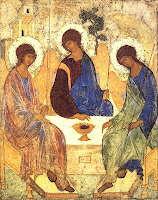 Rublevs Icon of 'The Trinity' : Moscow School Of Art