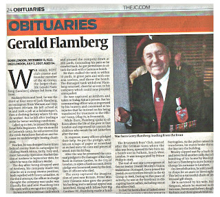 Click to read Gerald Flamberg's obituary
