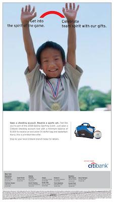 Citibank Account Online >> my portfolio: Citibank Checking Account Ad-Chinese