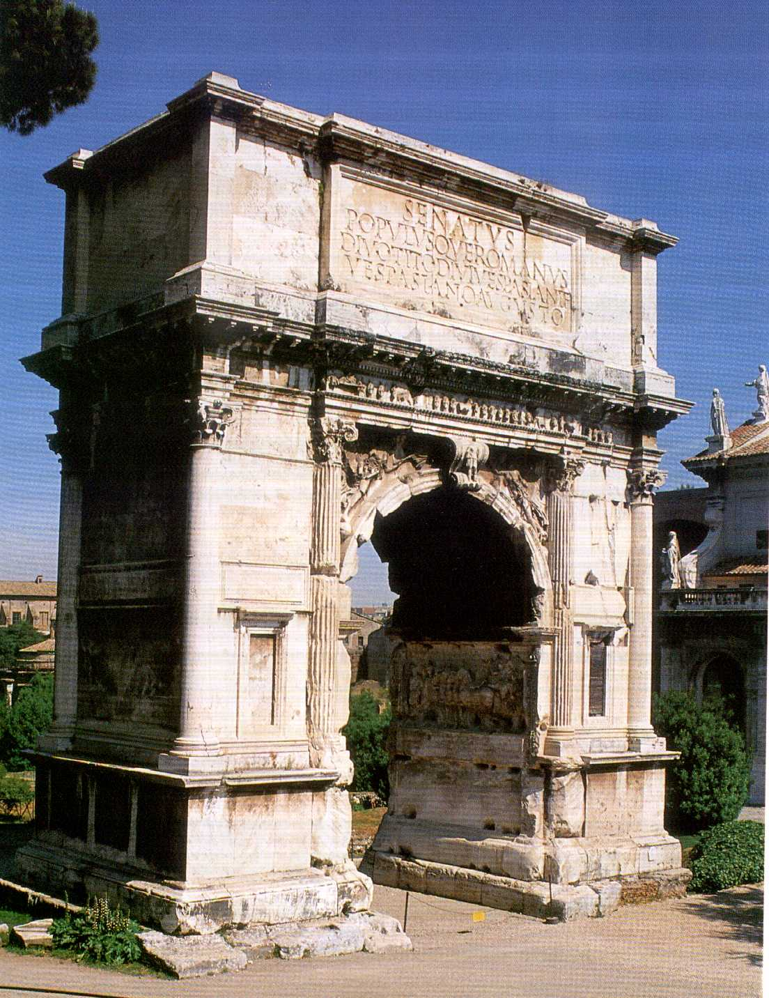 M s clases de arte arcos de triunfo romanos tito 81 d c for Archi arredo roma