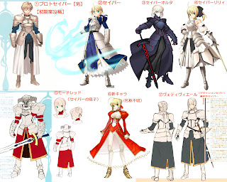 Anime Comments and Reviews: The evolution of Saber from Fate