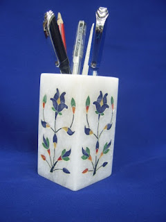Marble Inlay Art Pen Holder