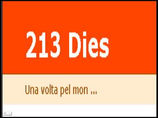 213 dies. UnA voltA pel Món