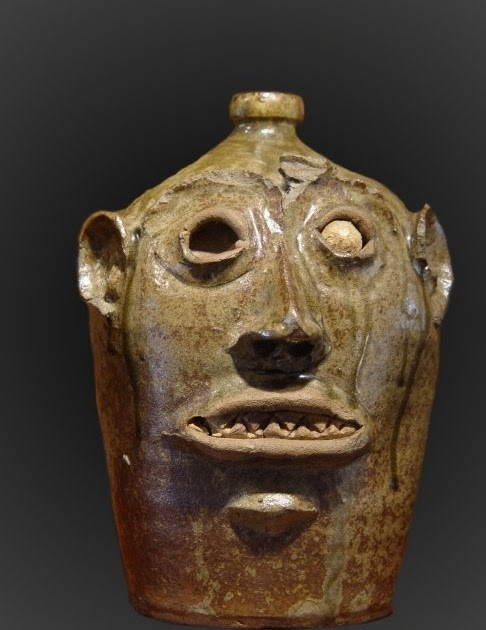 Old Canal Pottery The Mysterious Face Jug