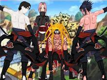 Equipe Naruto Akatsuki ( Sai, Sakura, Naruto e Sasuke )