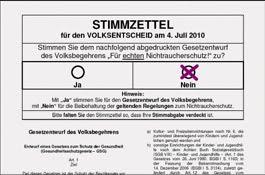Stimmzettel Unterschreiben