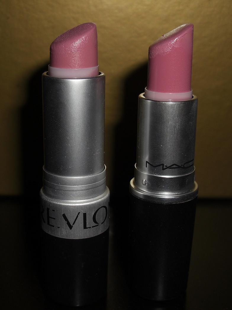 MAC Snob Vs Revlon Pink Pout