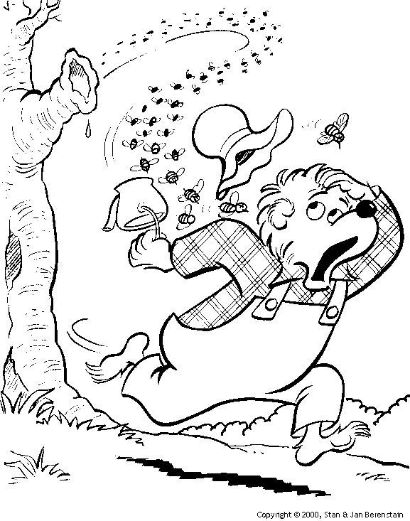 boz the bear coloring pages | Çocukla Çocuk Olun: Vız Vız Arı