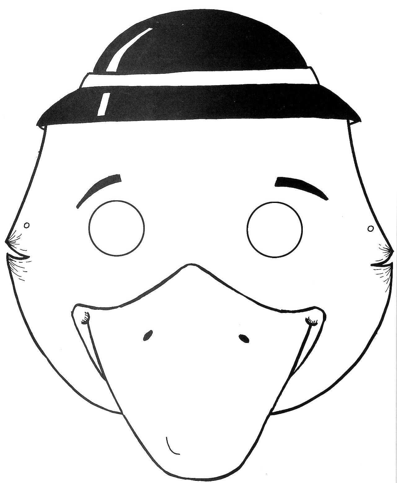 Hd Exclusive Kuş Maskesi Boyama Yazdırılabilir Boyama Sayfaları