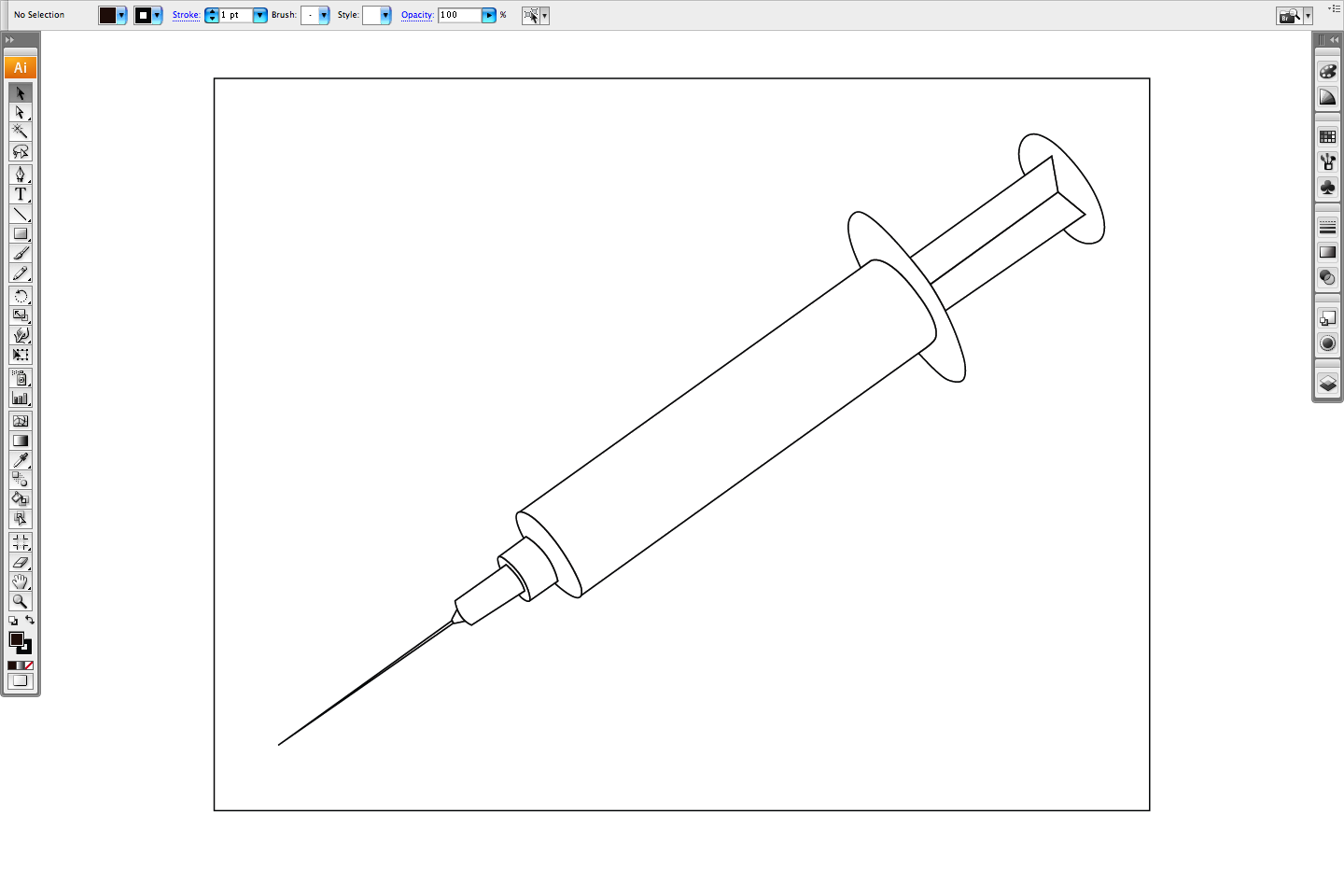 how to draw medical syringe page 2