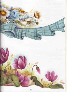 Revista_pintura_tecido_barrados_vol 2_margaridas Rosas
