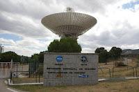 Vista del complejo de Robledo de Chavela (Madrid), y su antena de 70 metros, desde donde se siguió la misión Apolo XI