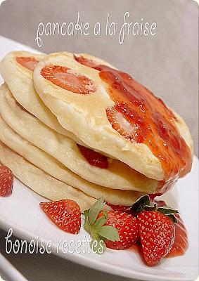 Pancake à la fraise