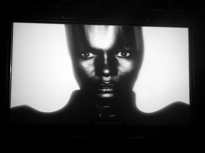 grace jones' pre-concert film