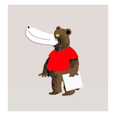 bear in red t-shirt