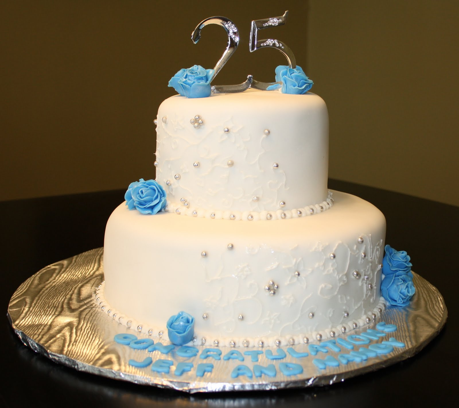The 25 Best Wedding Cakes: Hock Cakes LLC: 25th Wedding Anniversary