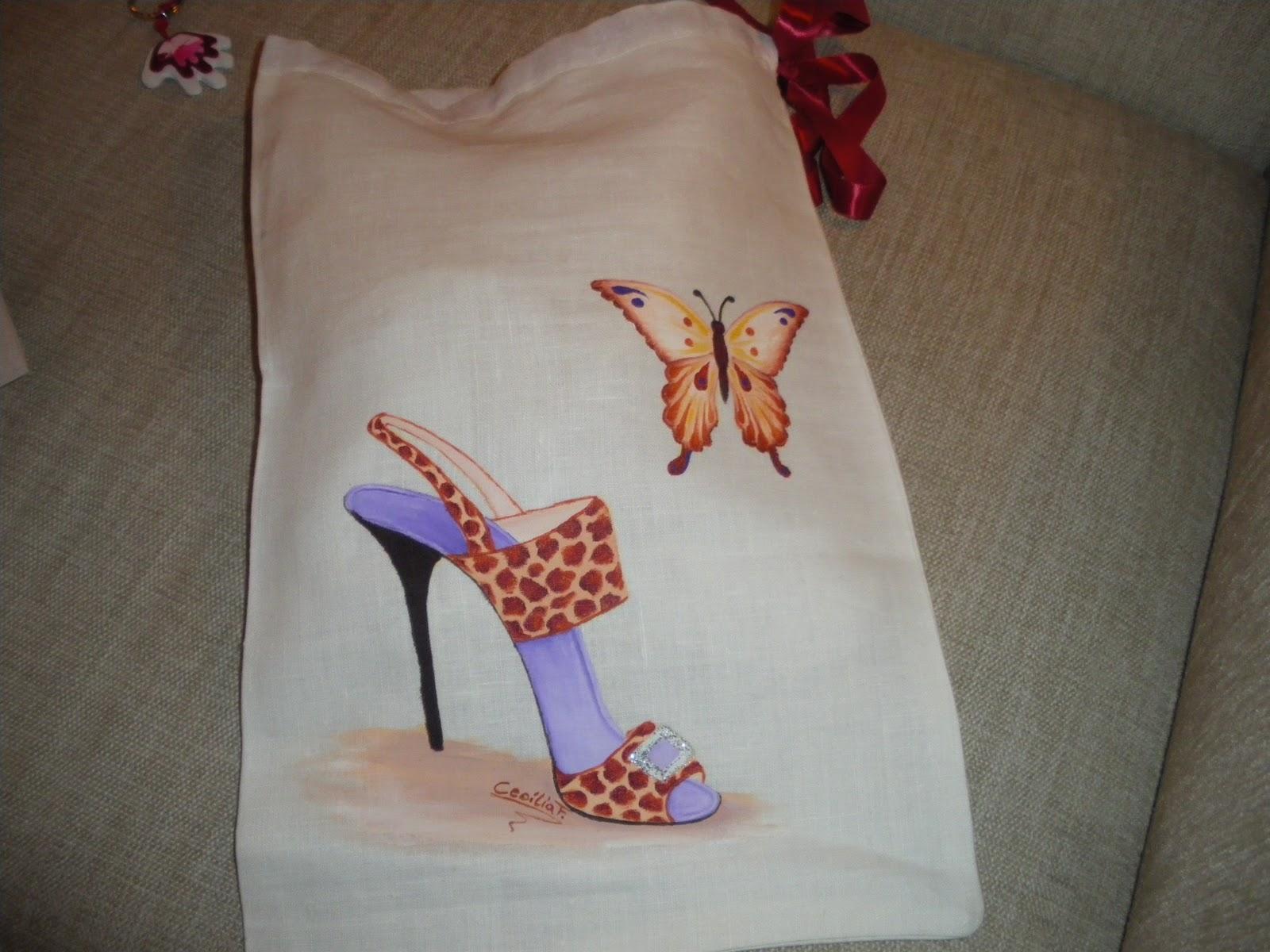 Artesania pintura en tela y manualidades bolsas pintadas - Bolsas para pintar ...