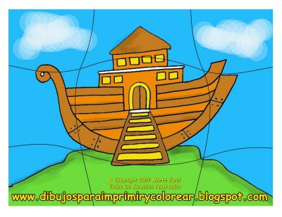picture relating to Free Printable Pictures of Noah's Ark referred to as Absolutely free Printable puzzles: Noahs Ark puzzle for printing