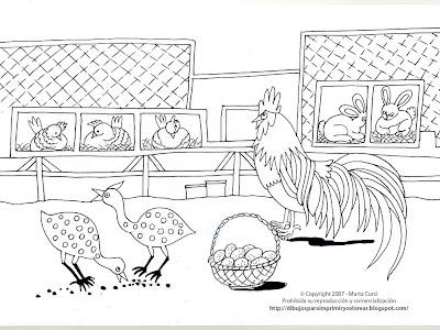 Dibujos para colorear y pintar de Animales de la granja: Dibujo para ...