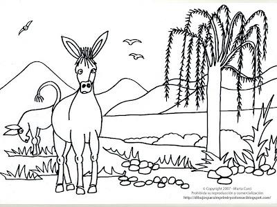Dibujo De Un Burro Pintar Online Para Ni  Os