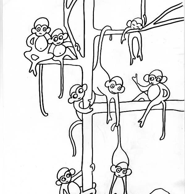 Dibujos para imprimir y colorear de Animales de la Selva: Dibujo ...