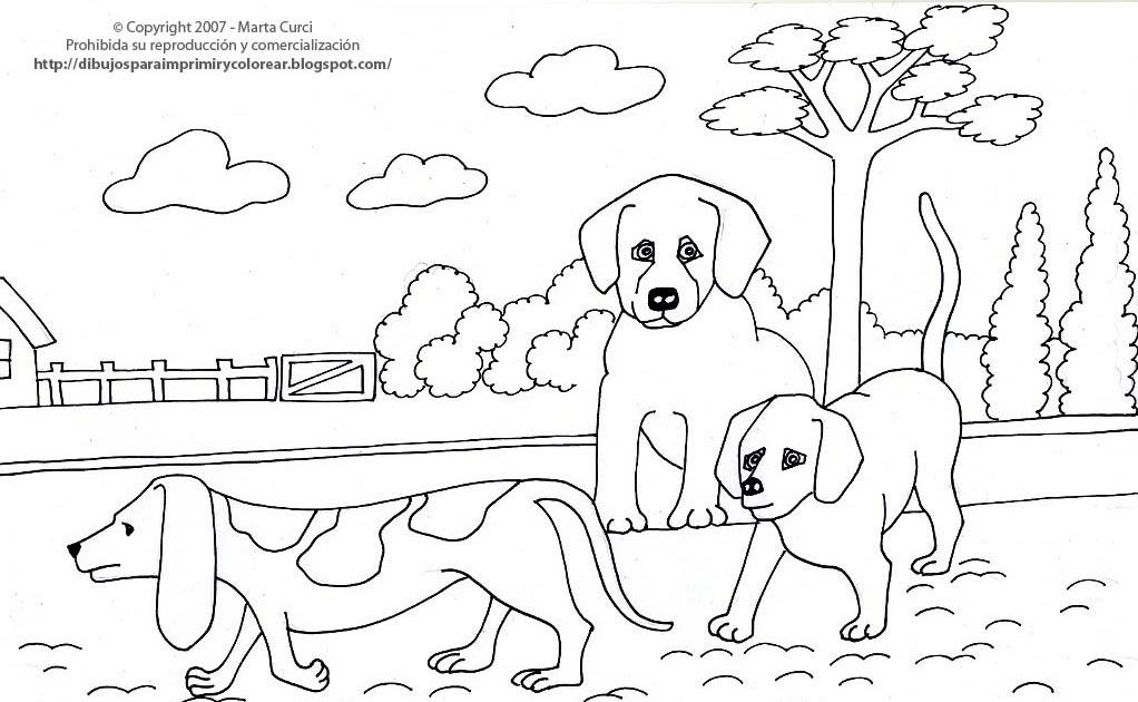 Dibujos Para Imprimir Y Colorear De Perros: Dibujos Para Imprimir, Pintar Y Colorear De Mascotas