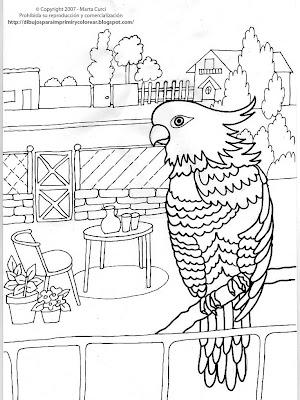 Dibujos para imprimir, pintar y colorear de mascotas: Dibujo para ...