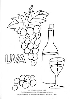 Dibujos Para Imprimir Y Colorear Gratis Para Niños Dibujo De Uvas