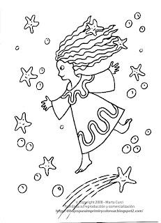 Dibujos para imprimir y colorear gratis para niños: Dibujo de un