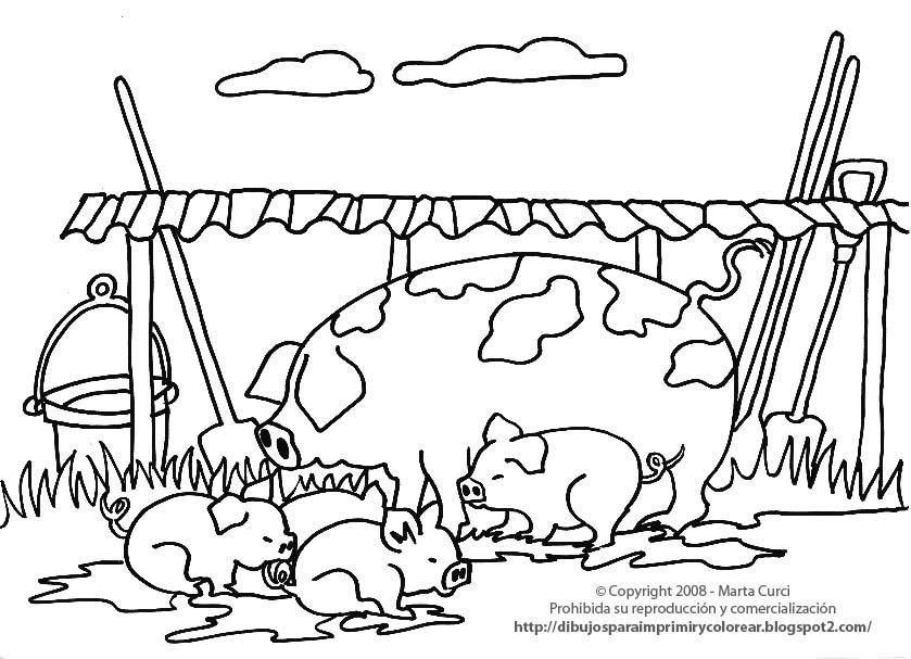 Dibujos Para Colorear Y Pintar De Animales De La Granja